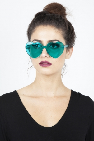 Lonely Heart Sunnies in Aqua