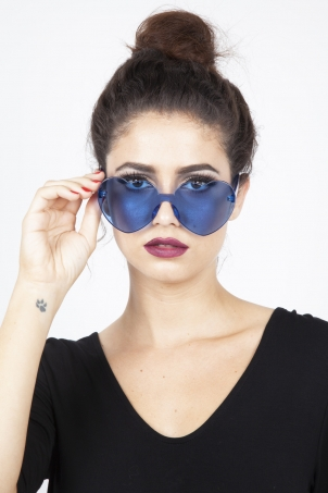 Lonely Heart Sunnies in Blue