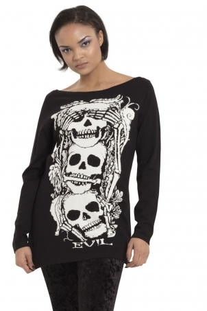 No Evil Knit Sweatshirt