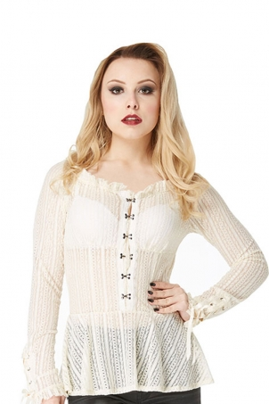 Lace Pendulum Cream Vest