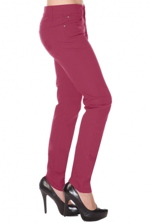 Mono Drainpipe Jeans Burgundy