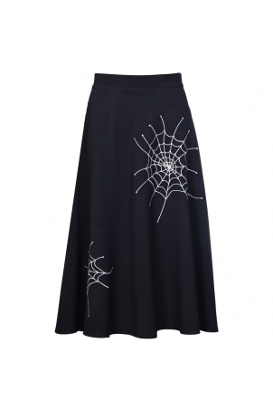 VV X Acid Doll Black Widow A-Line Skirt