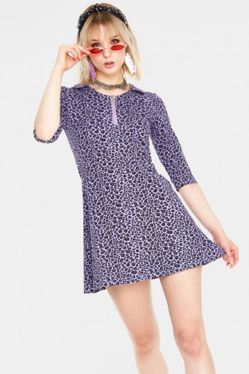 Animal Nature Leopard Mini Dress