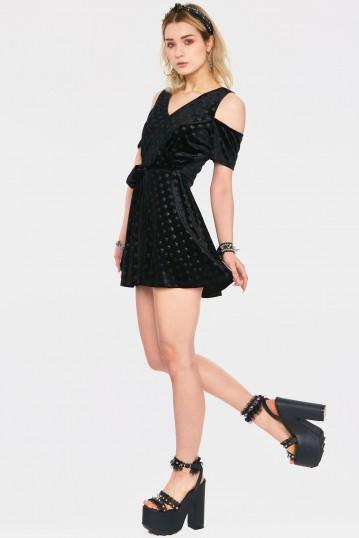Blame The Illuminati Cold Shoulder Dress