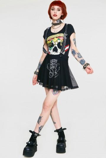 Boned Suspender Skirt