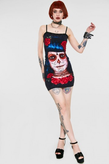 Deadly Dame Day of the Dead Dress