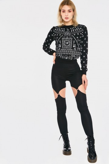 Disco Sucks Harness Leggings