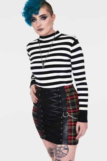 Disgraced Tartan Tube Skirt