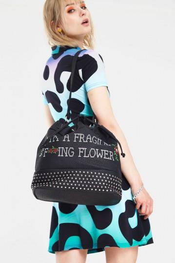 Fragile Flower Drawstring Bag