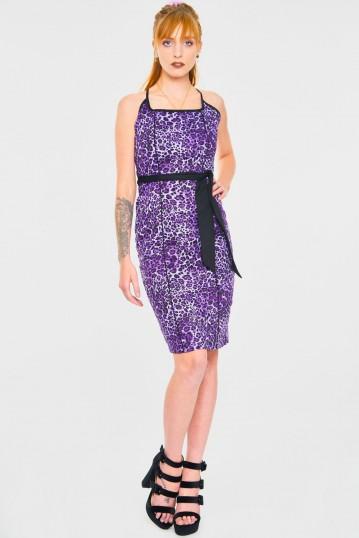 Leopurple Pencil Dress