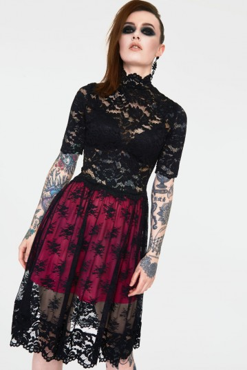 Lost Girl Black Lace Witch Dress