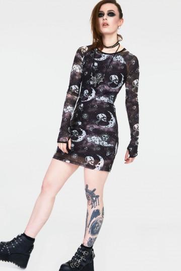 Moonstone Long Sleeve Mini Dress