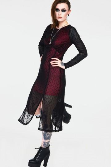 Moonstruck Mesh Midi Dress