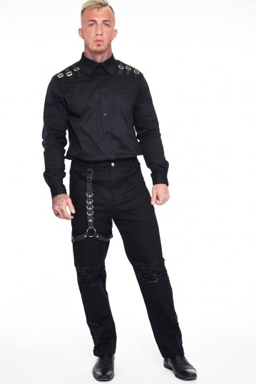 Black Trouser with Contrast Panels