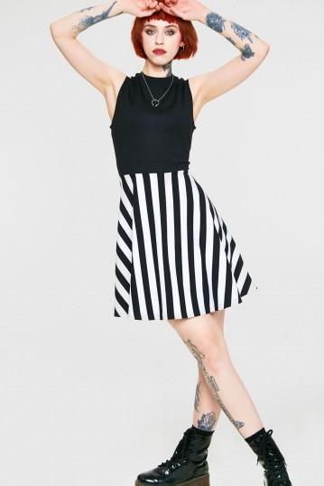 Recently Deceased Striped Dress