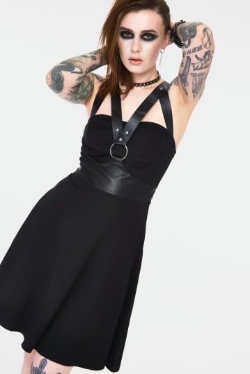 Release Me Black Skater Dress