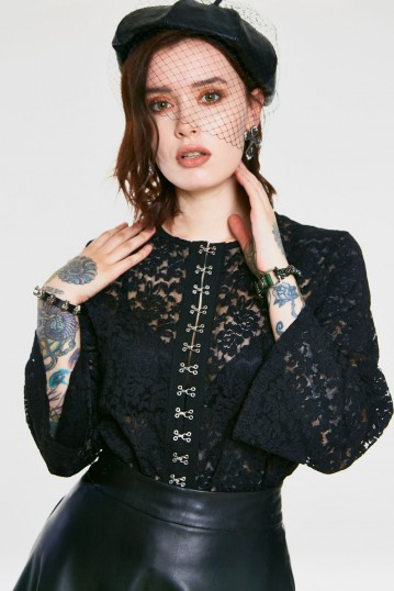Ruffling Feathers Lace Top