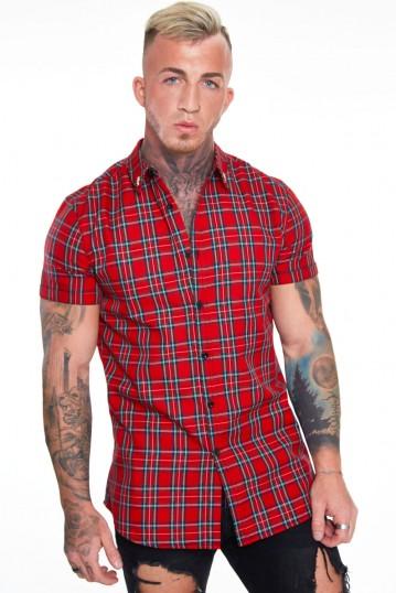 Tartan Short Sleeve Oxford Shirt