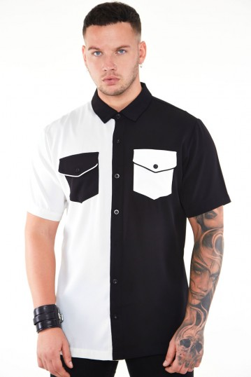 Black and White Contrast Shirt