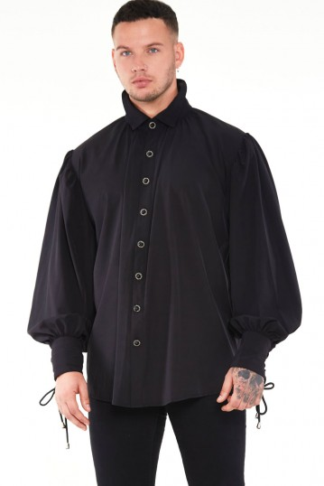 Gothic Shirt with High Neck