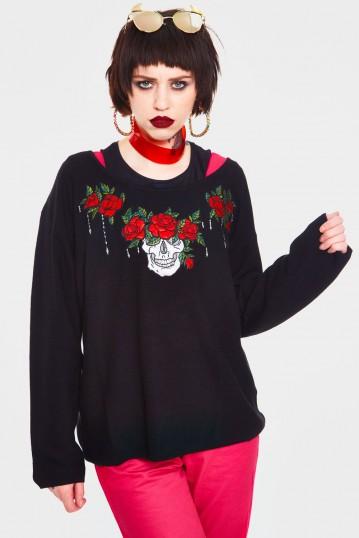 Skull Piece Sweater