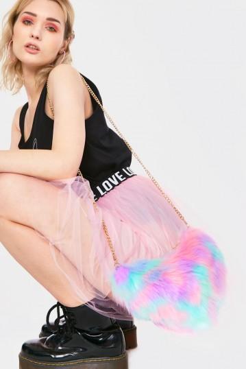 Sweet Enough Faux Fur Bag