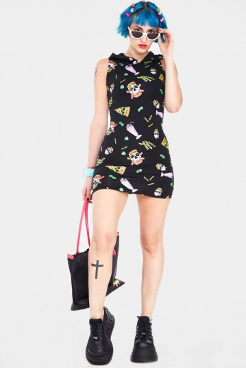 Twisted Fast Food Bodycon Dress