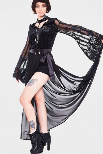 Vamped Chiffon Coordinate Skirt