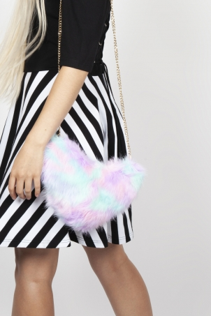Sweet Enough Faux Fur Bag