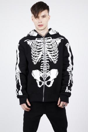 Demon Skeleton Full-Face Hoodie