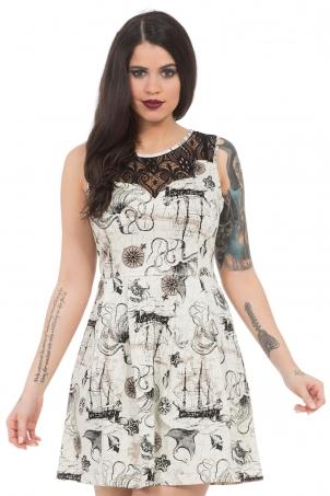 Naughty Nautical Lace Insert Dress