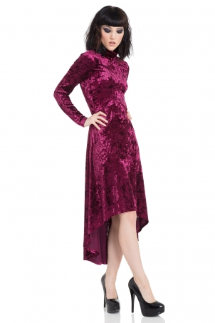 High And Low Velvet Dress