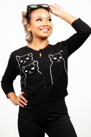 Salem Grumpy Kitty Cardigan