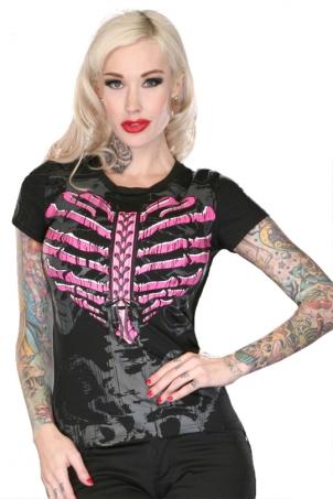 Lovelace Ribcage Heart Tshirt