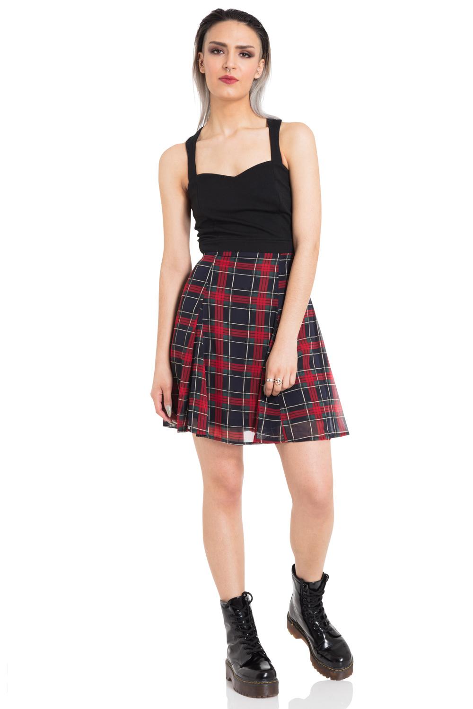 Tartan Overlay Dress