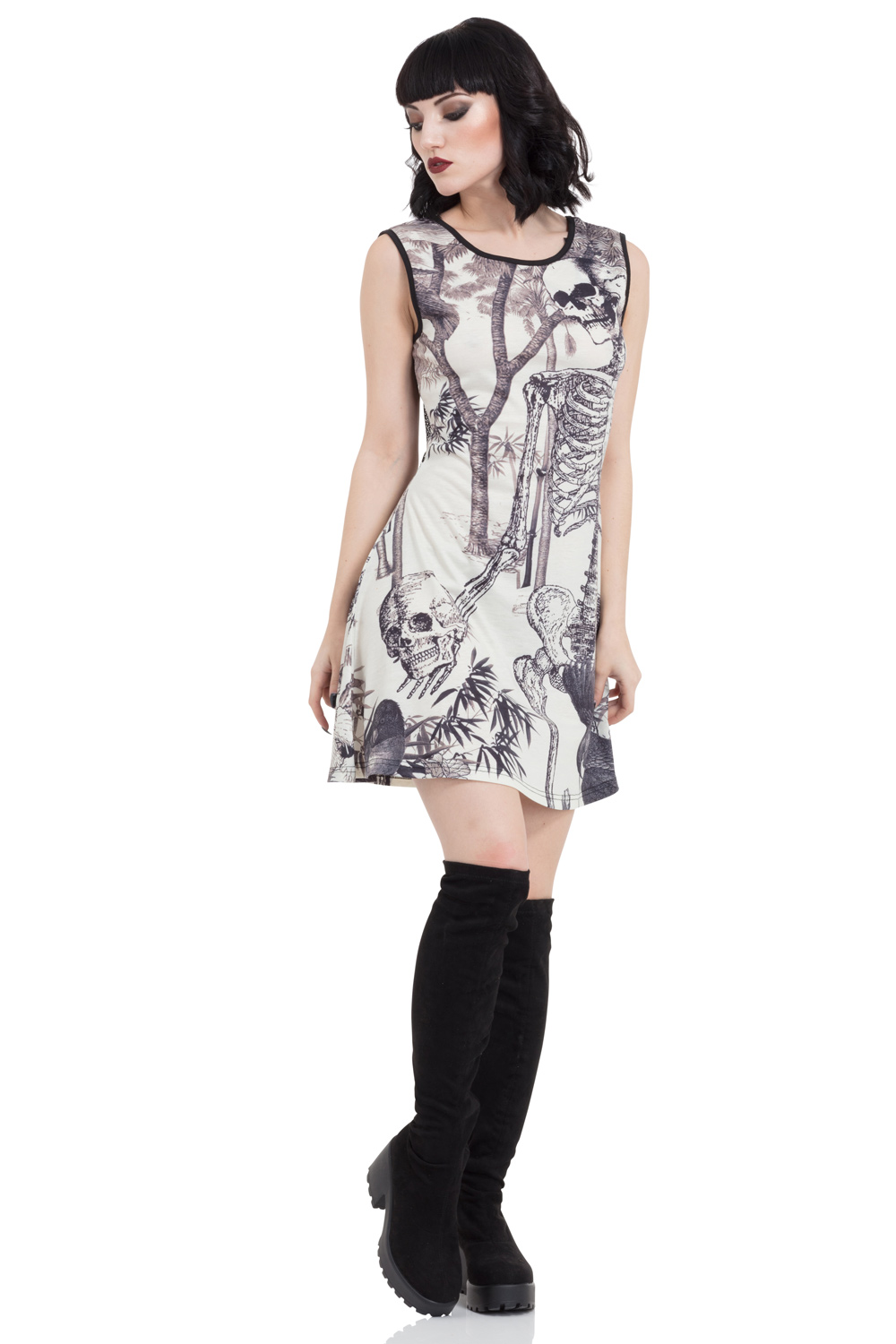 Light N Morbid Skater Dress