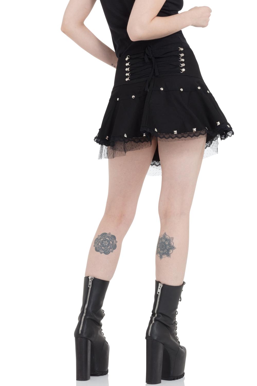 Netted Studs Miniskirt