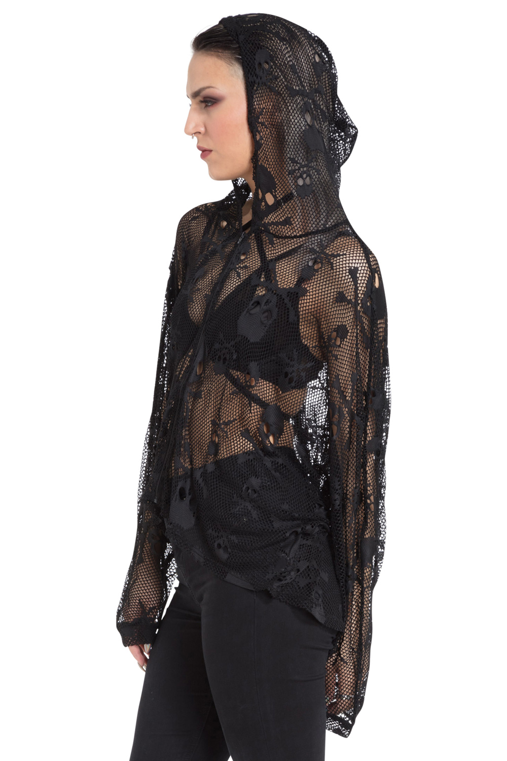Netted Poison Oversized Hoodie