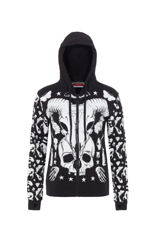 Dark & Wild Ram Skull Hoodie