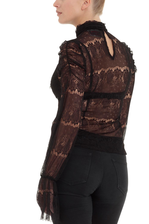 Nancy Black Lace Shirt