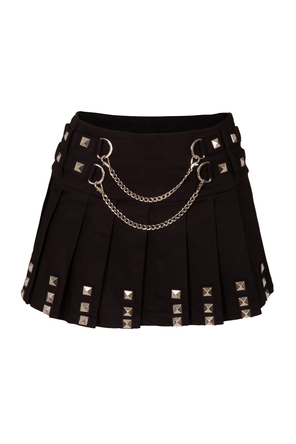 Pleated Studs Miniskirt