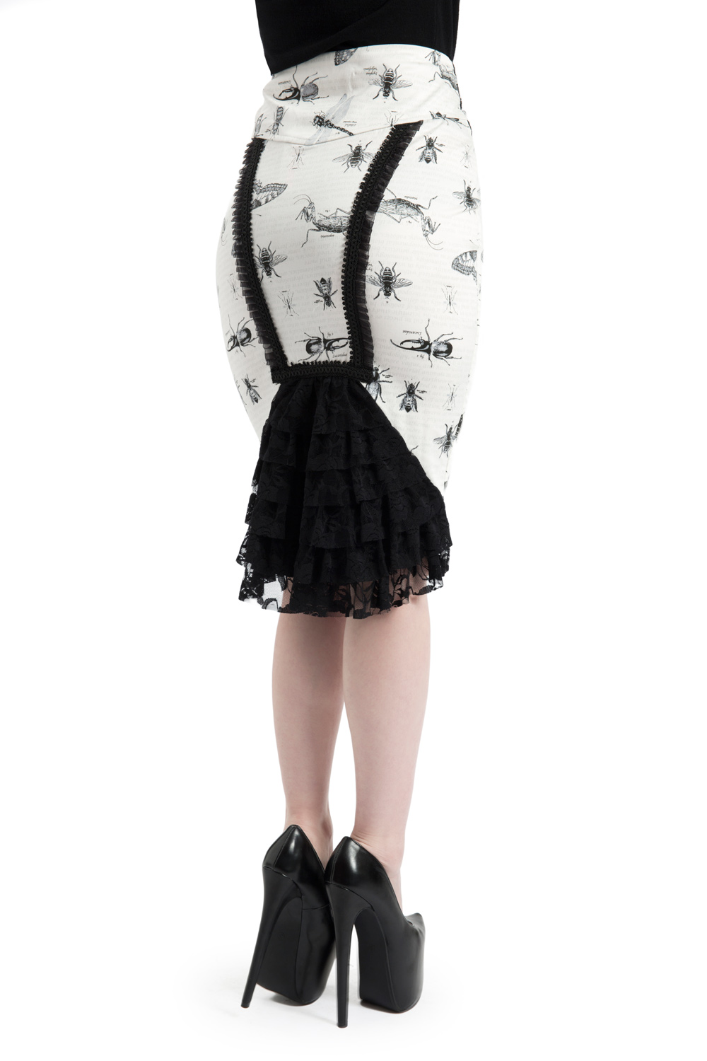 Fran Insect Print White Skirt