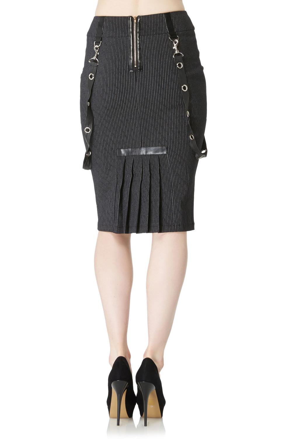 Grovel Pinstripe Pencil Skirt