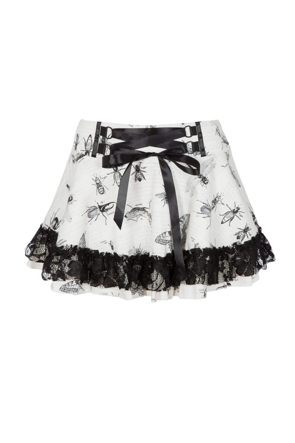 Creepy Chloe Insect Print Skirt