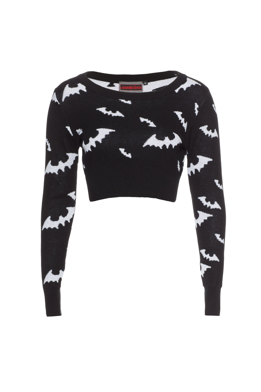 Bella White Bat Crop Sweatshirt
