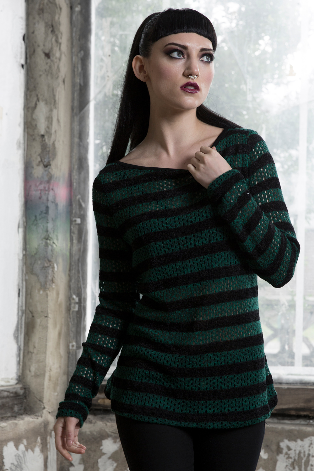 Forest Stripes Sweater