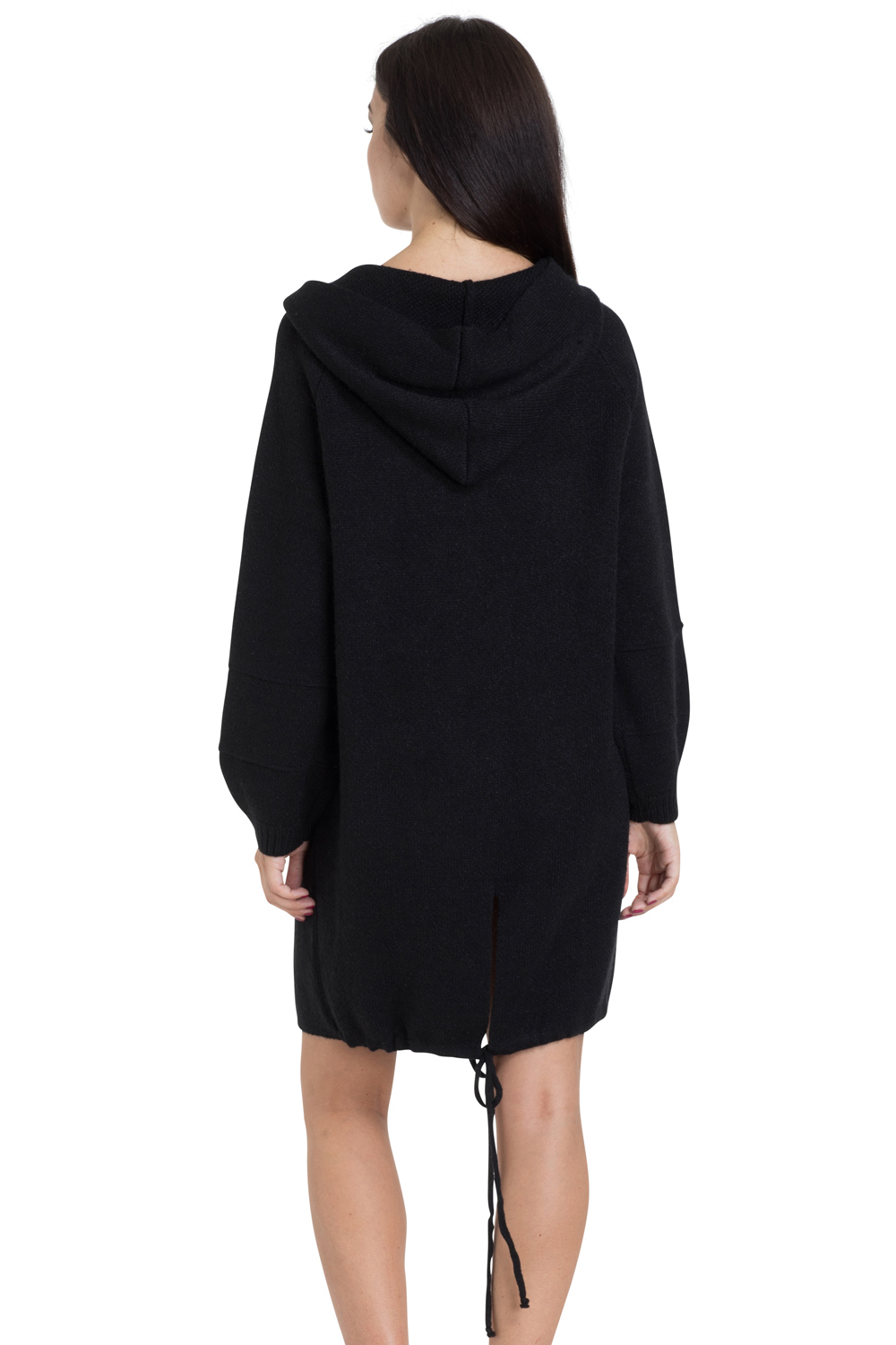 Black Oversized Cocoon Sweater