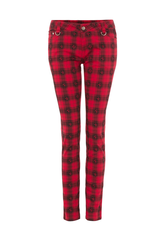 Red Tartan Skull Trousers