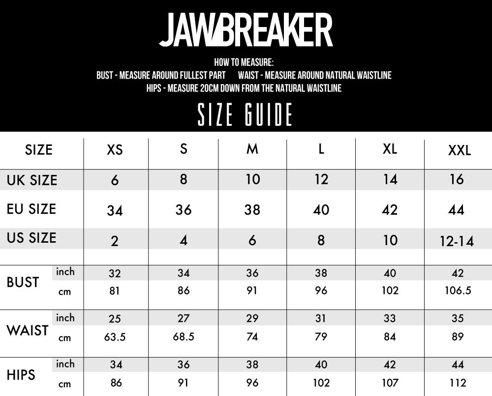 Jawbreaker Size Guide